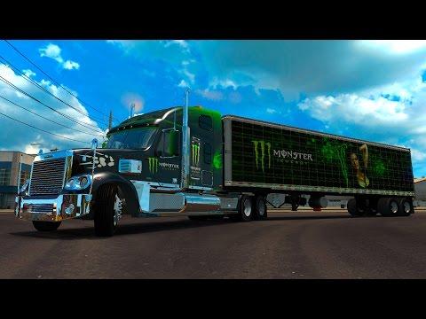ATS Freightliner Coronado! Baja California Norte Transportando Monster American Truck Simulator
