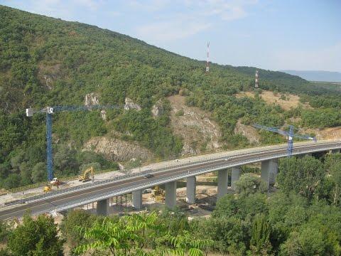 Rusenje mosta na autoputu, deonica Čiflik-Staničenje. Bridge demolition - ŠUŠA DOO NOVI SAD