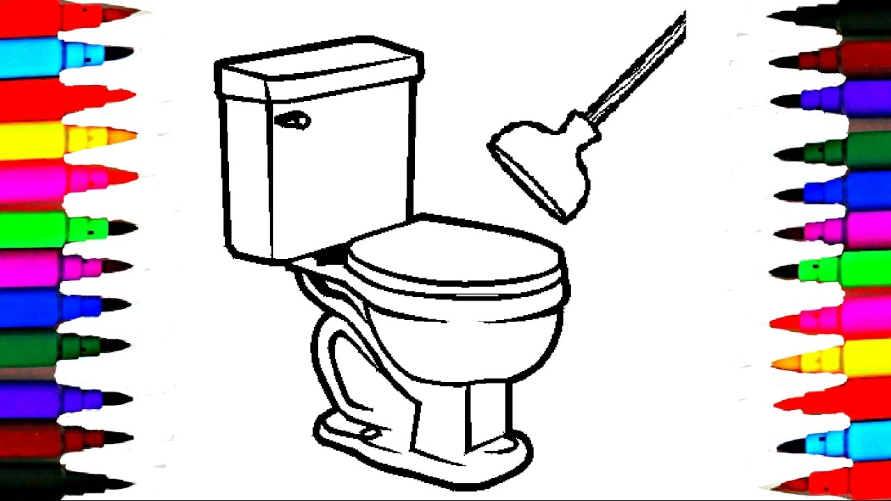 Coloring Pages Bathroom for Kids l Bathtub Drawing Pages l Videos ...