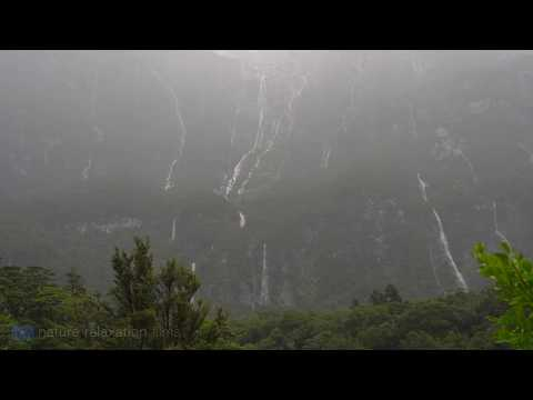 """4K: """"Restful Rain in Milford Sound"""" (+ Moby Music) a Nature Relaxation Ambient Film"""