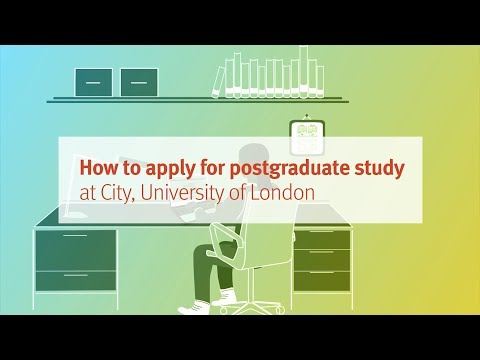How to apply for postgraduate study at City, University of London