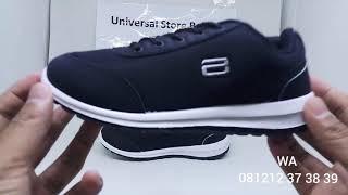 Sepatu Sekolah Ando Lucia Hitam Putih Sepatu Casual Anak Perempuan Lelaki Kets Sekolah TK SD SMP SMA