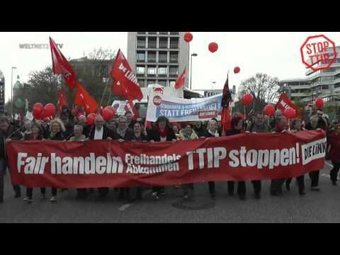STOPP TTIP DEMO Hannover - Diether Dehm: Für einen gerechten Welthandel - gegen TTIP !