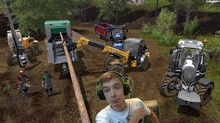 Rzut kłodą ! Rżniemy aż wióry lecą ! Farming Simulator 2017 Zawód Drwal #1 #S02