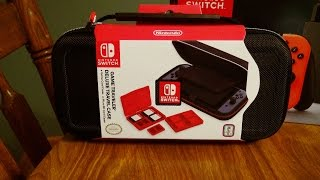 nintendo switch game traveler deluxe travelers case unboxing