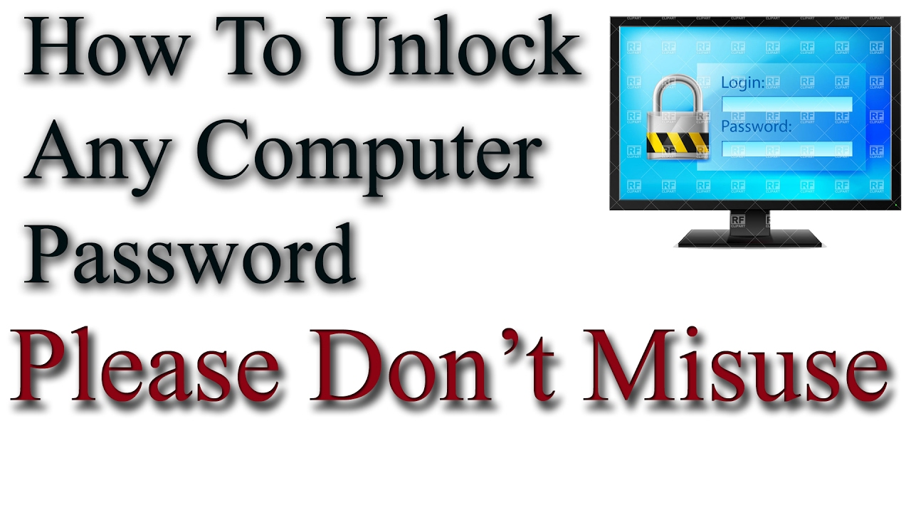 how to unlock a password on a computer