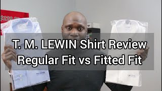 T.M. Lewin Shirt Review | Shirts For Muscular Men | Regular Fit vs Fitted Fit