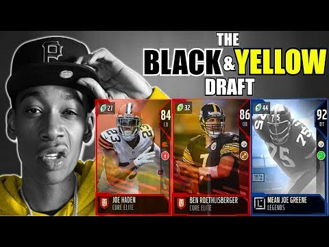 THE BLACK AND YELLOW DRAFT! PLAYER FROM THE TEAM CLOSEST TO PITTSBURGH IN EVERY ROUND! Madden 18 DC