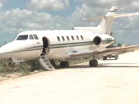 Business Jet Turned Drug Plane Makes Landing and Discharge in O.W.
