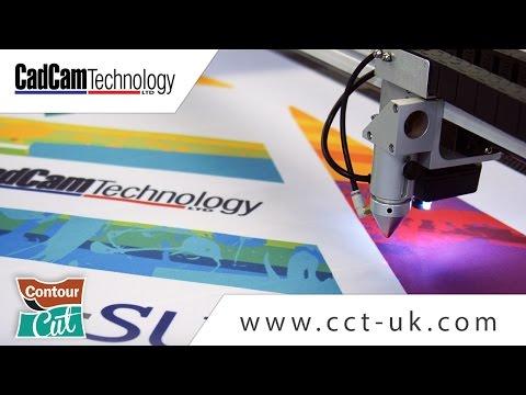 Laser Cutting Printed Flags - Contour Cut