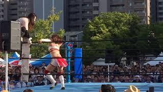 仙台ガールズプロレスリング「井上貴子vs岩田美香」2018.8.25 金沢別院祭り