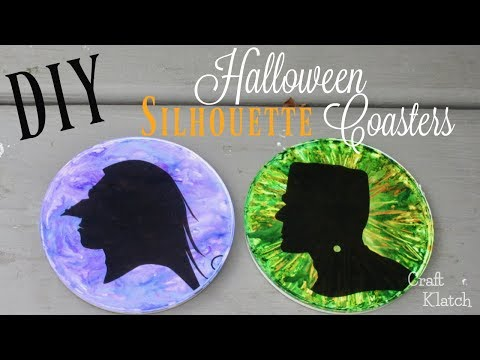 Halloween Resin Coasters ~ Monster Silhouettes | Another Coaster Friday | Craft Klatch