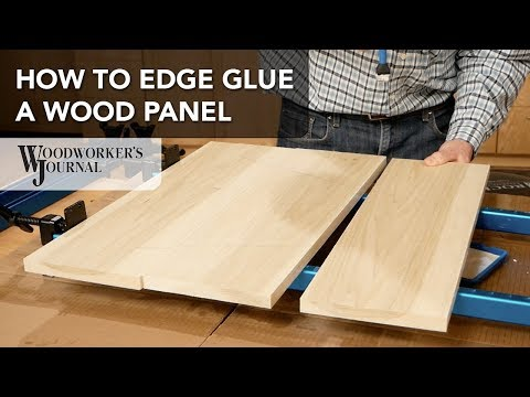 How to Edge Glue a Wood Panel | Basic Woodworking Skill