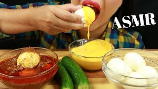 EGGS WITH CHEESE SAUCE & BLOVES SAUCE ~ ASMR (No Talking) EAT LIFE WITH KIMCHI