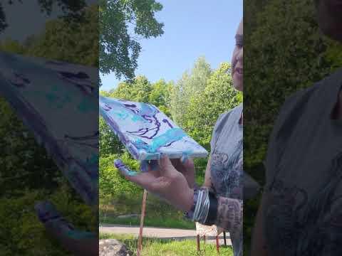 Try acrylic ink, unicorn spit , liquidex medium , glitter and white gesso