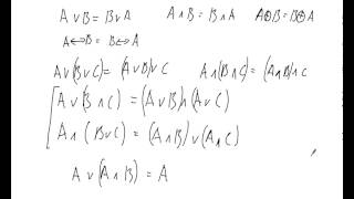 Лекция: Основы алгебры логики - законы алгебры логики