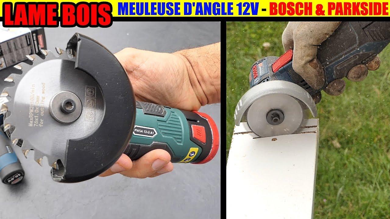 lame bois pour meuleuse d angle 12V Parkside PWSA et Bosch gws 12v ... 1eeb96c2ef4a