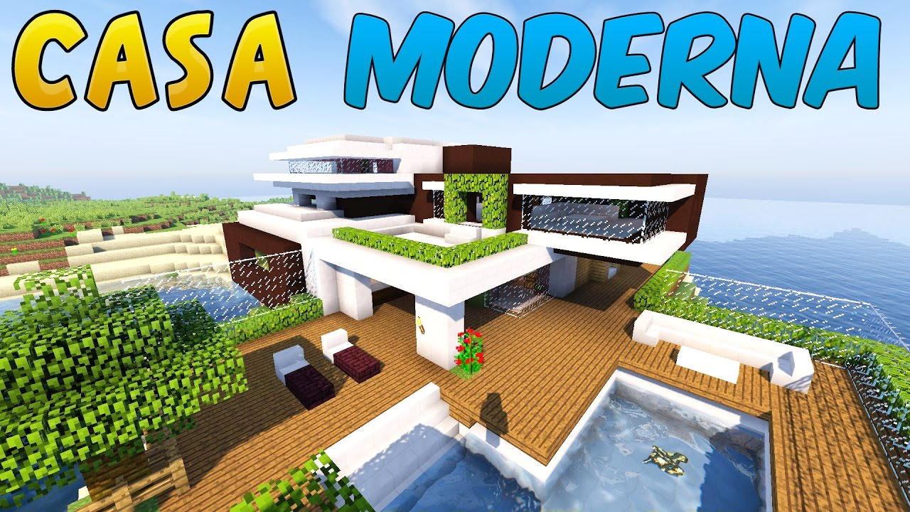 Come costruire una casa moderna minecraft parte 1 youtube for Disegni di stili di casa moderni