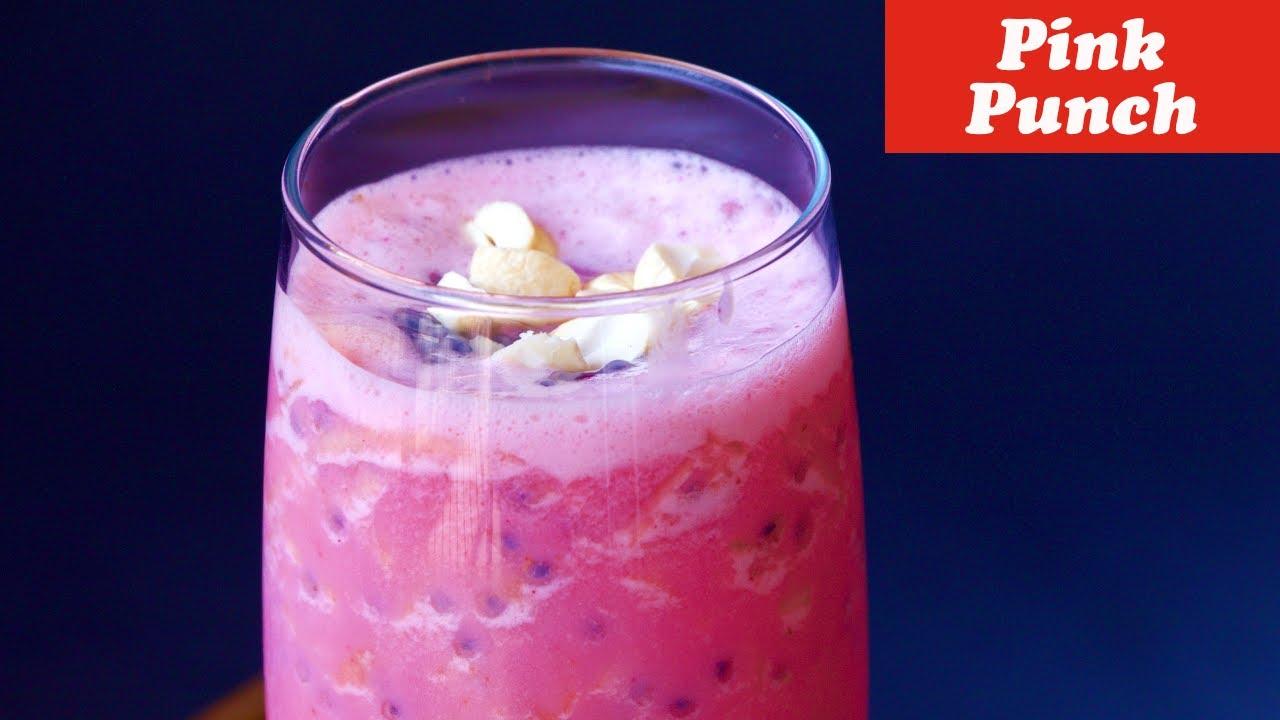 Pink Punch Shake Simple Tasty Refreshing Summer Drink
