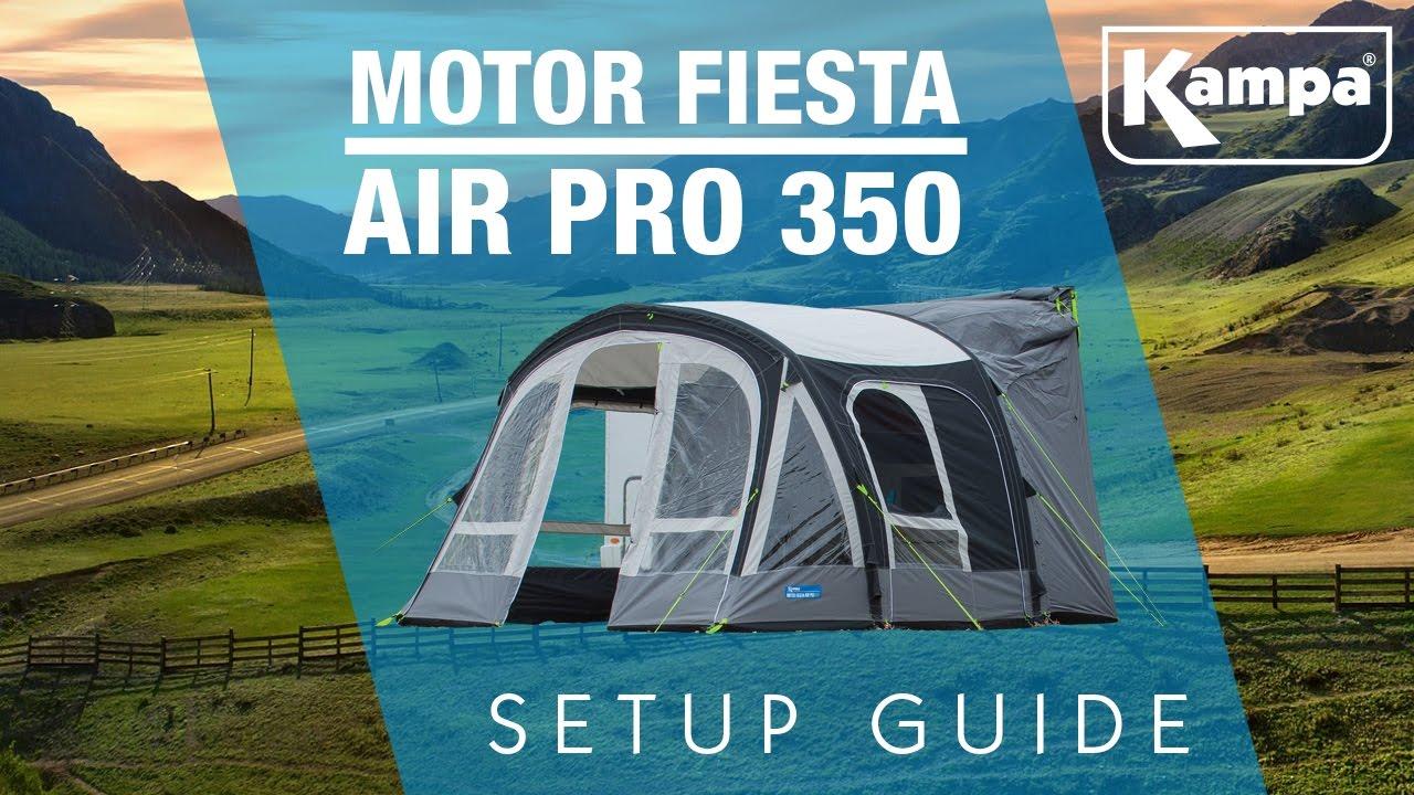 Kampa Motor Fiesta Air Pro 350 Setup Guide Youtube