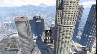 Grand Theft Auto V lucky front flip in fountain