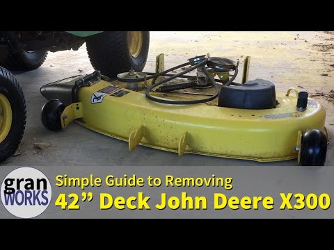 Removing a 42 in Deck From a John Deere X300 - YouTube