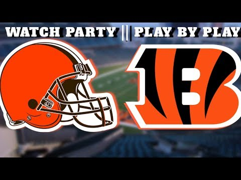 LIVE: Browns Vs. Bengals || 2nd Half Play By Play || Watch Party Live Stream