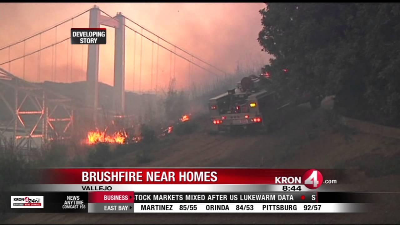 California wildfires: Major fire at Carquinez Bridge in Vallejo; I-80 ...