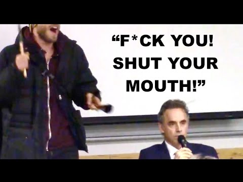 """""""F*CK YOU, SHUT YOUR MOUTH"""" - Protestors hurl ABUSE at Jordan Peterson, blow HORN in his FACE"""