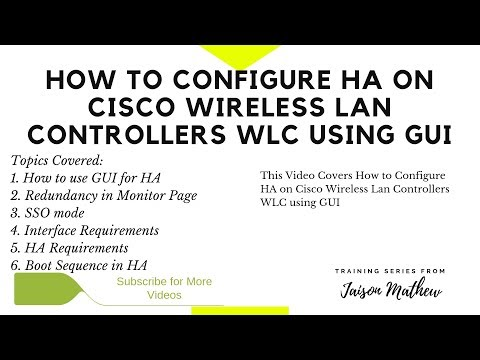 How to Configure HA on Cisco WLC using GUI - YouTube