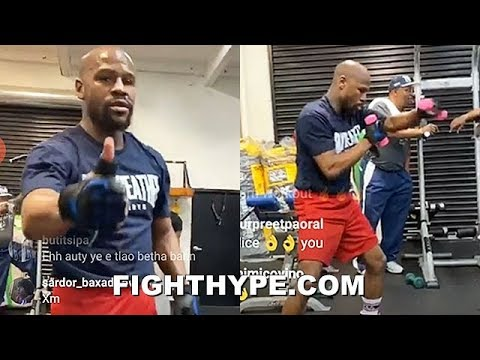(WOW!) FLOYD MAYWEATHER TRAINING AGAIN; BACK IN THE GYM PUTTING IN WORK DURING LATE-NIGHT SESSION
