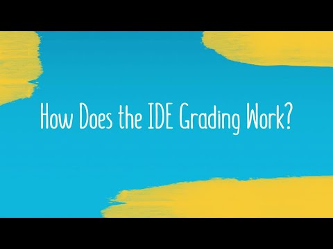 How Does the IDE Grading Work?
