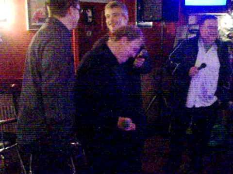 Alan, Stuart, Steve And Richard Singing ??? At Karaoke
