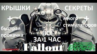 Fallout 4 на PS4 как заработать 140000 крышек за час опыт стимуляторы