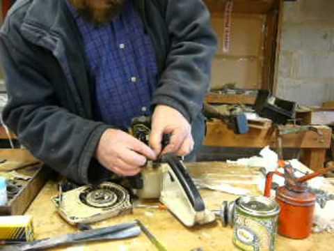Part 5 Stihl chainsaw flywheel  ignition coil  exhaust