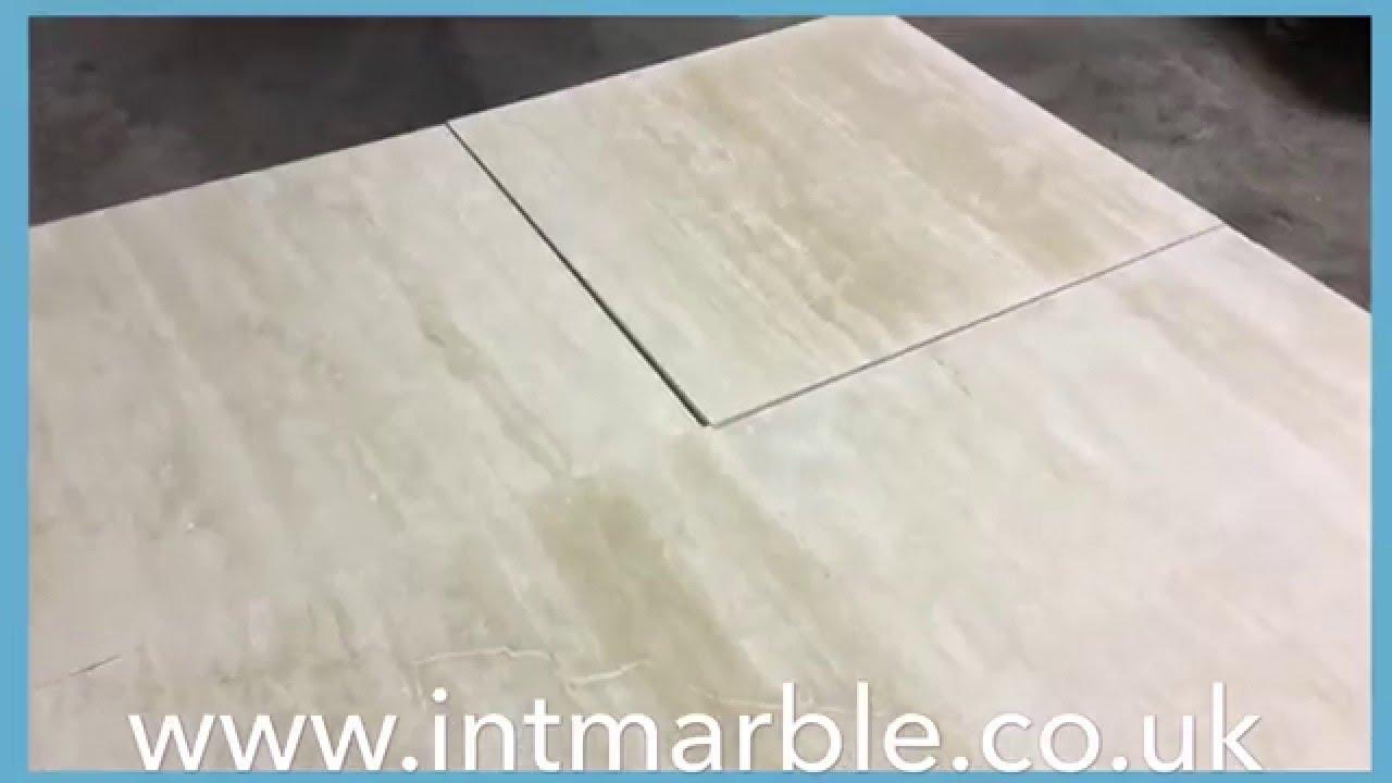Travertine Tiles, Honed Filled, Ivory Select Vein Cut, 60X602CM ...
