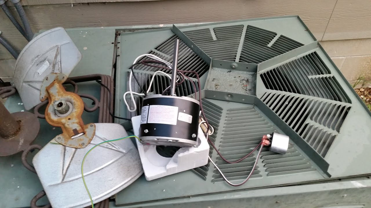 hight resolution of replace rheem a c condenser fan motor no skill needed youtube how to replace condensor fan motornewmotorwiringjpg