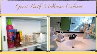 An Organized Home: Guest Bath Medicine Cabinet {how To Organize}