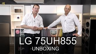 LG 75UH855 UHD TV 4K - Unboxing  - Thomas Electronic Online Shop - UH855