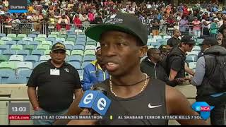 Three times comrades marathon winner Bongmusa Mthembu speaks to eNCA