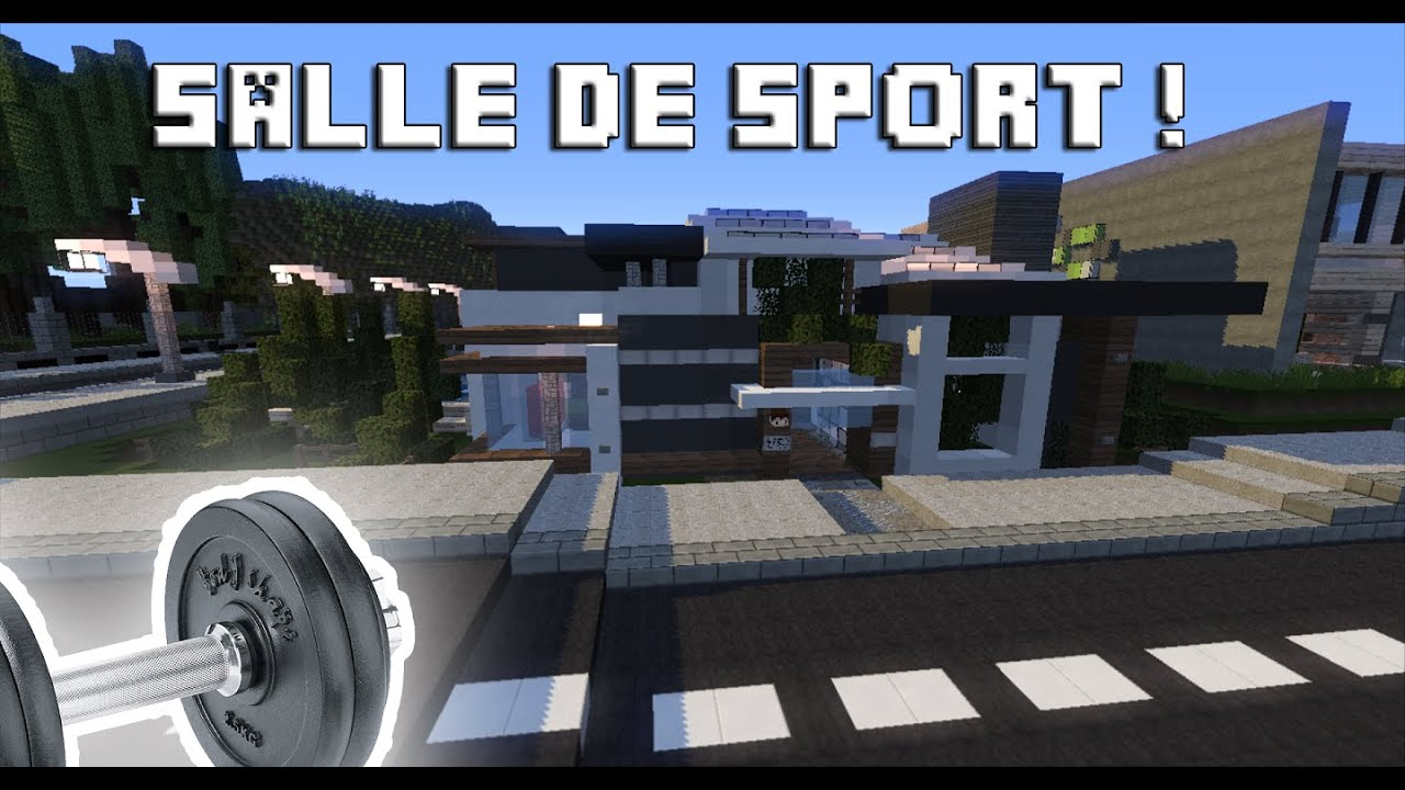minecraft salle de sport moderne tom 80 youtube. Black Bedroom Furniture Sets. Home Design Ideas