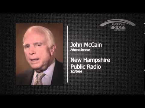 John McCain - New Hampshire Public Radio , 3.2.2016