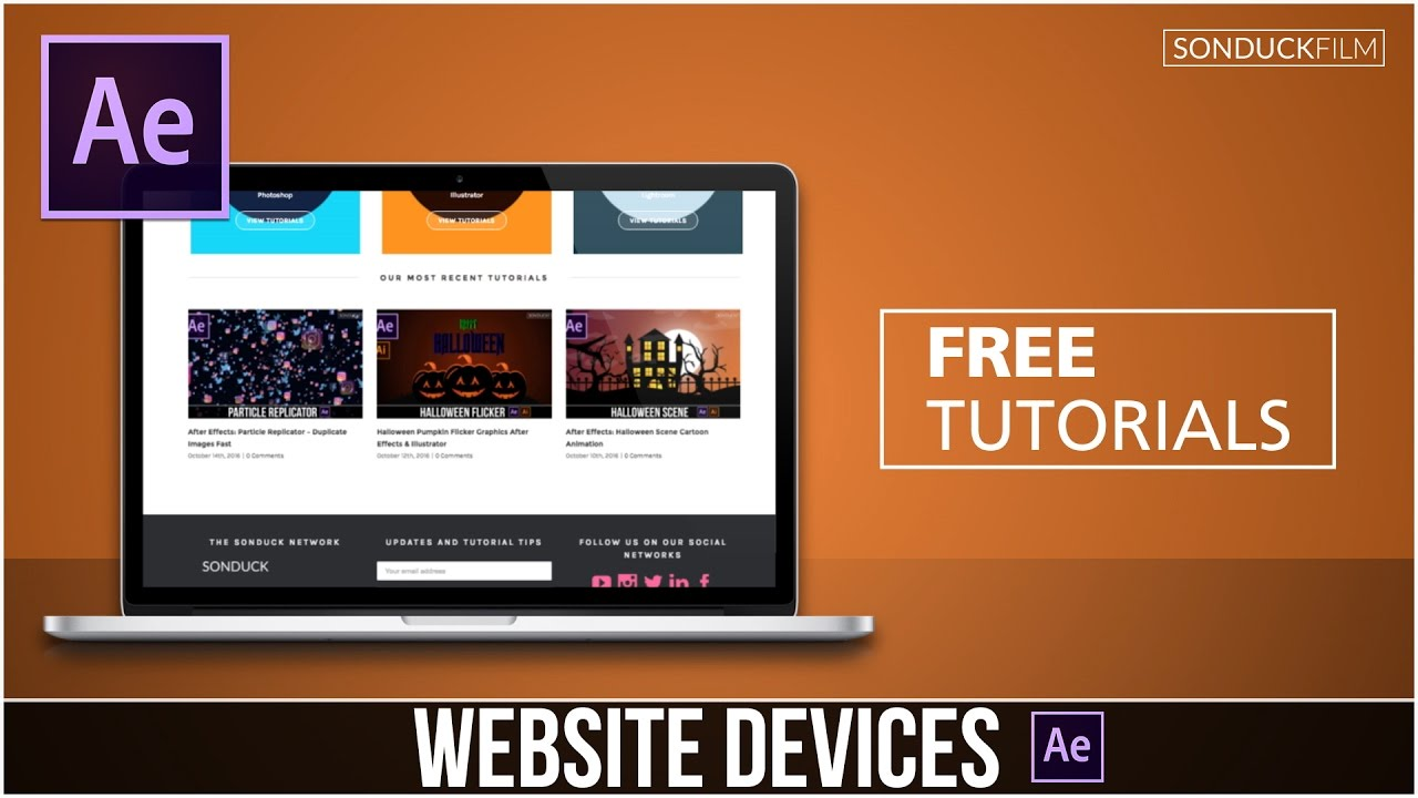 after effects tutorial: animate your website on digital devices, Presentation templates