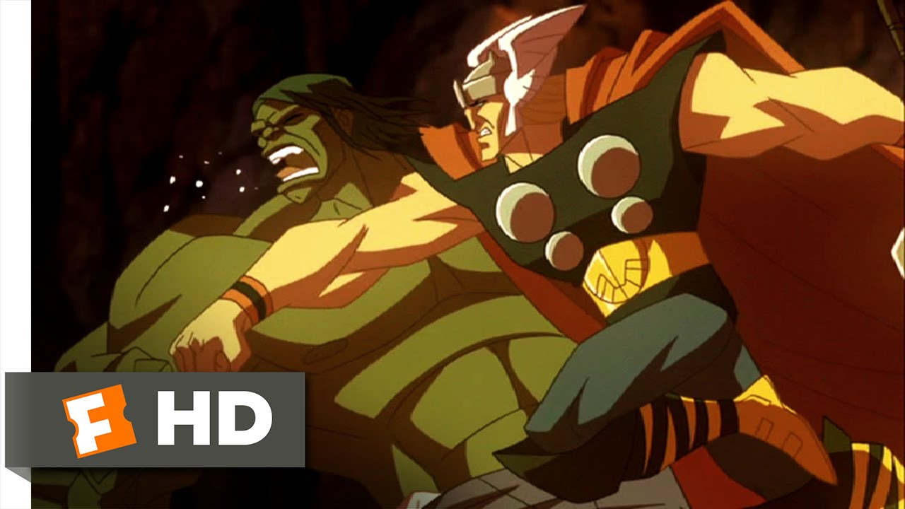 Hulk Vs. (2009) - Thor and Loki Team Up Scene (5/5) | Movieclips