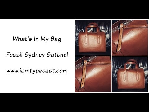 What's In My Bag | Fossil Sydney Satchel