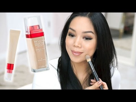 NEW Revlon Age Defying Firming and Lifting Foundation and Concealer Review - itsjudytime
