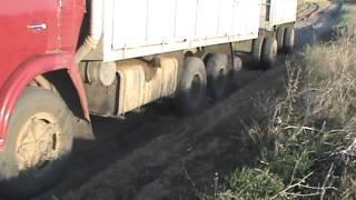 КАМАЗы в песке Салтово - Красный Кут 1.05.2012