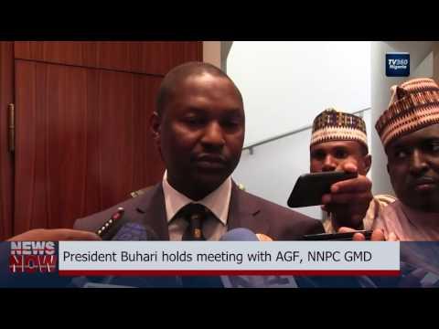 Buhari holds meeting with AGF, NNPC GMD