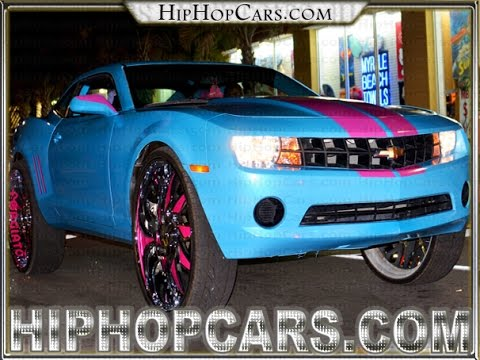 Chevy Camaro 32 Forgiatos Custom Blue Amp Pink Black Bike