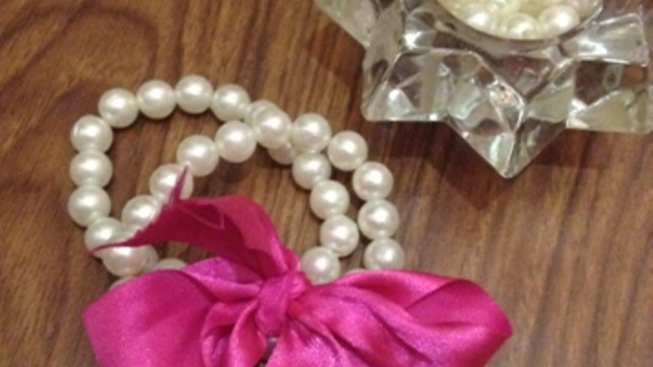 Famoso Crea un Romantico Bracciale di Perle con Nastro - Fai da Te Style  OT28